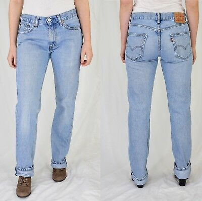 Vintage Levi's 505 High Waisted Jeans Light Wash Fits 4 to 6 long