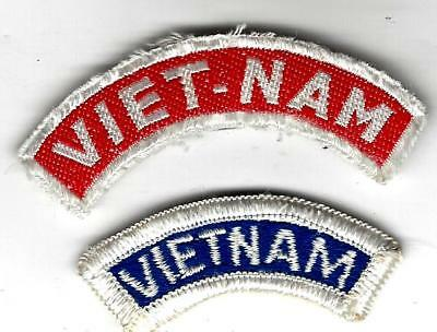 VN War patches / tabs:  VIET-NAM. Woven silk(pretty rare) and US made(but old)FE