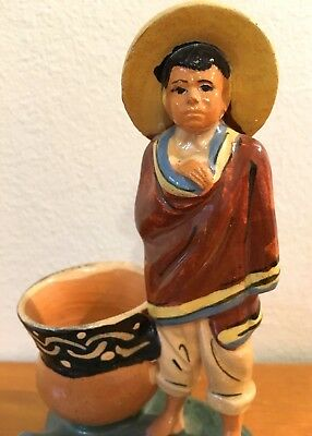 Vintage  Mexican Pottery Ashtray Tlaquepaque Mexico Folk Art Buy It Now