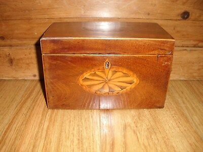 Vintage Wooden Tea Caddy