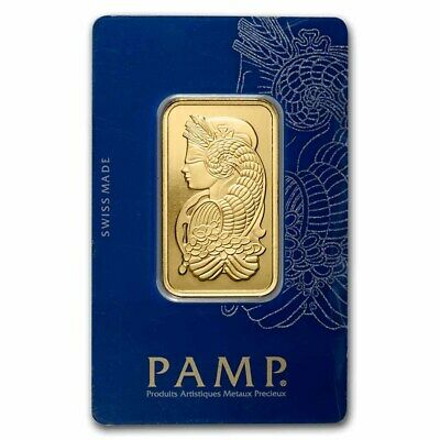 1 oz Gold Bar - PAMP Suisse Lady Fortuna Veriscan® (In Assay) - SKU #82236