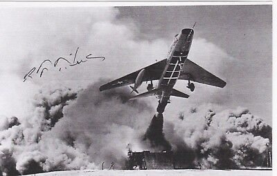 Air Force Test Pilot Hero, Signed Image Of F-100 Zero Launch !!!