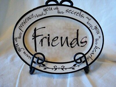 Friends Mini Plate with Easel EUC