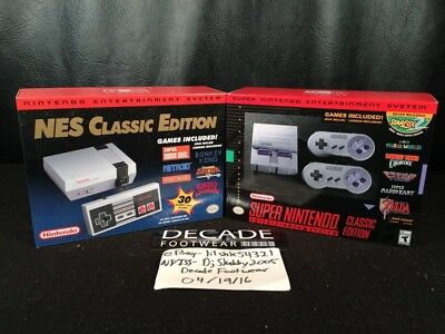New Nintendo Nes Classic Edition Mini Super Snes Console Set Get Both Sold Out