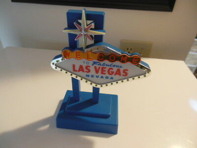 Las Vegas Desk top Sign - uses 4 Double A Batteries