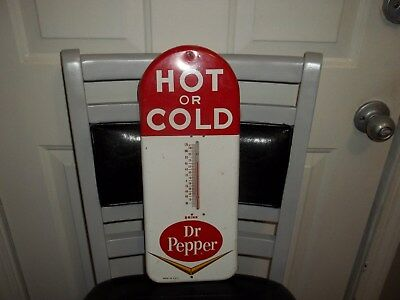 1950s DR PEPPER THERMOMETER..SODA POP..HOT OR COLD..WORKS..