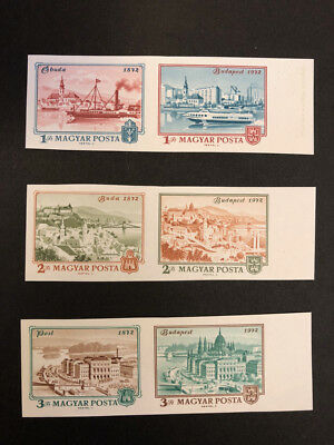 Hungary Scott No 2179-84 MNH Imperforate Imperf Imp Centenary of Budapest.