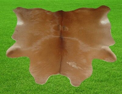 """New Calfhide Rugs Area Cow Skin Leather 6.04 sq.feet (29""""x30"""") Calf hide MB-2917"""