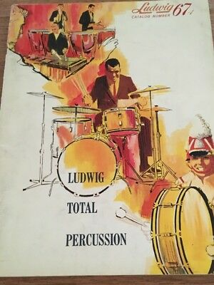 Ludwig Total Percussion Catalog 67-1, 1966 prices, GOOD shape
