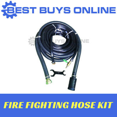 """FIRE FIGHTING HOSE KIT Suit Water Pump 20mx3/4"""" High Pressure, 5mx1.5"""" suction"""
