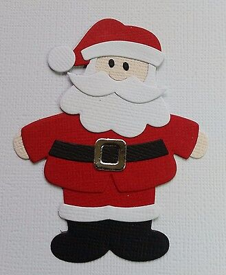 4 x Assembled Santa, Father Christmas,  Die Cuts,  Embellishments,  Card Making