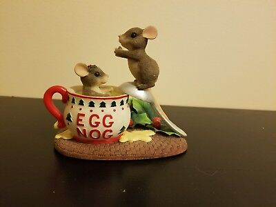 Vintage Charming Tails Dive Into The Holidays 87/208  EggNog figurine F & F