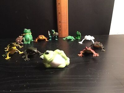 Lot Of 13 Frog Figurines Vintage & Modern