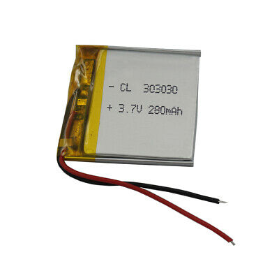 3.7V 280 mAh Polymer Li Lithium Cells For GPS bluetooth headset sat Nav 303030