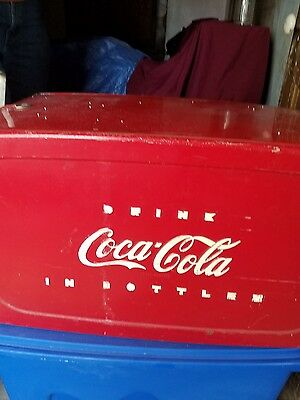 Coca-Cola vintage 1950 metal cooler