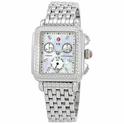 8aff7249f81fed New Michele Deco Day Mother of Pearl Dial Diamond Ladies Watch MWW06P000099
