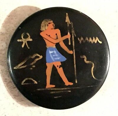Fabulous Antique / Vintage Casein Egyptian Revival Button