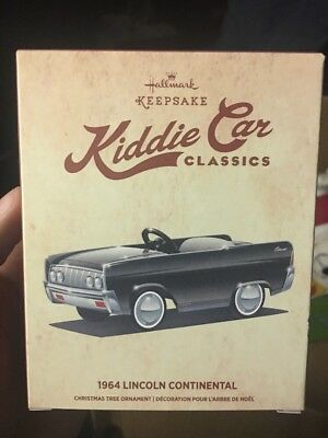 Hallmark 1964 Lincoln Continental Kiddie Car Classics Ornament - NIB