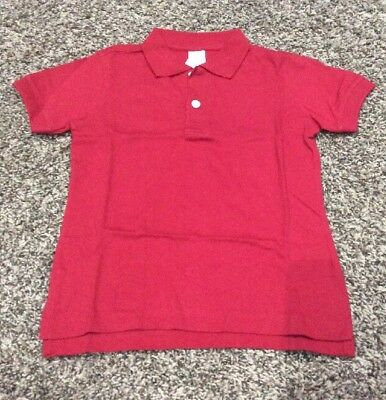NWT Gymboree Boys Solid Red Polo Shirt Size 4