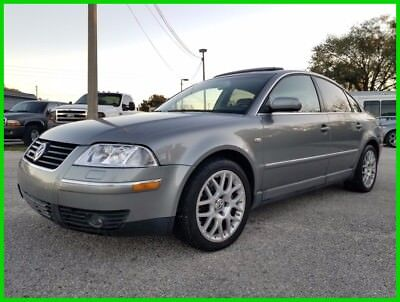 2003 Volkswagen Passat W8 AWD 4MOTION CPO FLORIDA NO RESERVE! 2003 VOLKSWAGEN PASSAT W8 4MOTION AWD VERY RARE FLORIDA NO RESERVE!