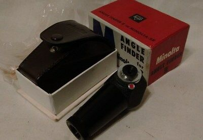 Vintage Minolta-SR Angle Finder II n Original Box With Instructions MUST SEE VGC
