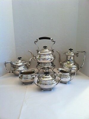 6 Pc Lord Robert By International Sterling Silver Tea Set  With Kettle On Stand