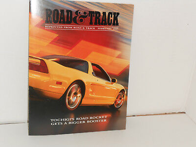 """ACURA """"NSX-T""""-  5  1997 Review REPRINTS FROM Road & Track Mag.- MINT & RARE!"""