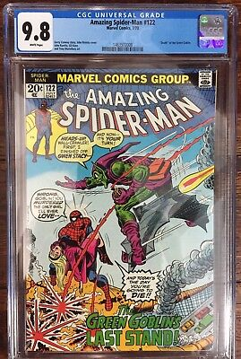 Amazing Spider-Man #122 Cgc 9.8 White Pages Death Of The Green Goblin !!!!!
