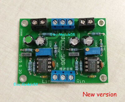 DC Buffer Preamplifier Board Stero Opamp Preamp Circuit for NE5534 OPA627 AD847