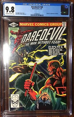 Daredevil #168 Cgc 9.8 Off-White To White Pages First Appearance Of Elektra !!!
