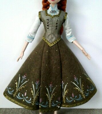 "Anna Frozen Limited Edition DRESS for 17"" LE/5000 Tonner Dolls Disney 2015 Rare"