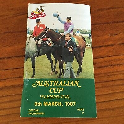 Scarce 1987 Australian Cup Race Book