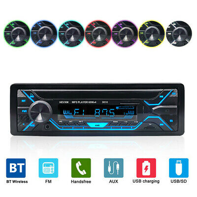 Single Din Car Stereo Radio In-dash Video MP3 Player USB AUX Bluetooth SD FM
