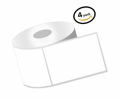 1 Inch Core - 2.25 x 3 Zebra Compatible Direct Thermal Labels 4 Packs for Zeb...
