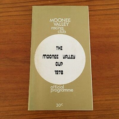 Scarce 1978 Moonee Valley Cup Race Book