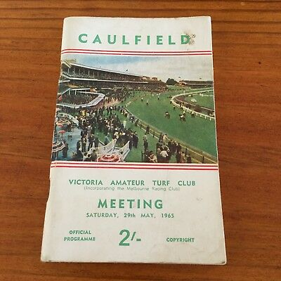Scarce 1965 Vatc Caulfield May Meeting Race Book