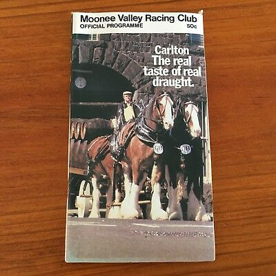 1982 Alister Clark Stakes At Moonee Valley Meeting Race Book
