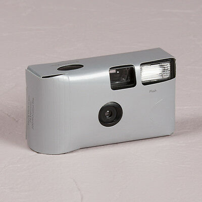 Disposable Camera x 10 with Flash - Silver