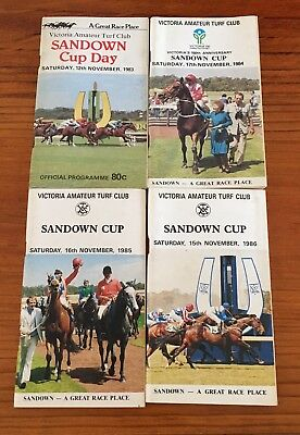 Sandown Cup Meeting Race Books X 4. 1983,84,85,86