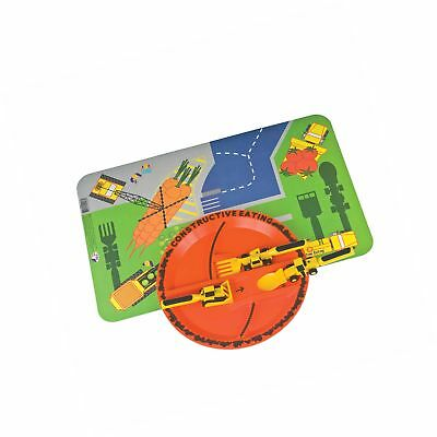 Constructive Eating - Construction Combo with Utensil Set Plate and Placemat
