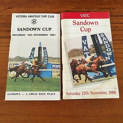 Sandown Cup Meeting Race Books X 2. 1987 And 1988