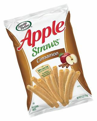 Sensible Portions Apple Straws Cinnamon 6 Ounce (Pack of 6) 6 Ounce (Pack of 6)