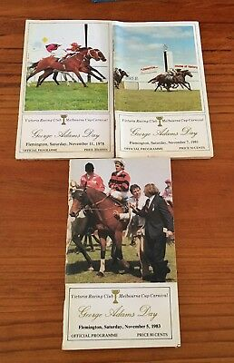 Flemington George Adams Meeting Race Books X 3. 1978, 1981, 1983