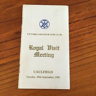 Scarce 1981 Royal Visit At Caulfield Meeting Race Book