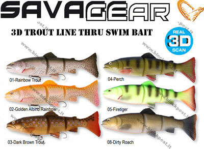Savage gear 3D Line Thru Trout 40 cm, 665 g, Different colors. Slow Sinking