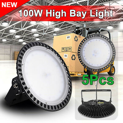 5X 100W LED High Bay Light Commercial Warehouse Industrial Factory Shed AU STOCK