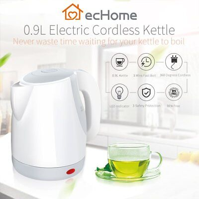 iNNOWARE 0.9L LED Cordless Portable Electric Kettle Fast Boil Water Jug