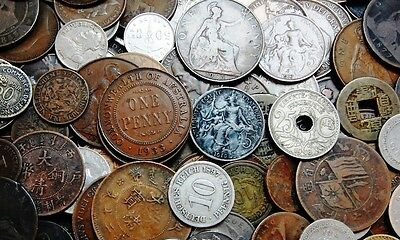 25 Old Foreign Coins - All 70+ yrs old