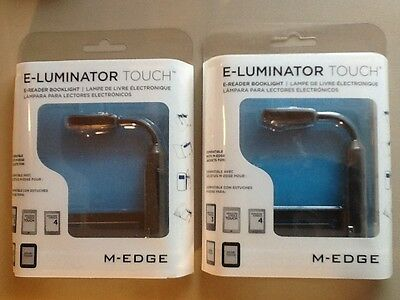 2 M-EDGE E-Luminator Touch E-Reader Tablet Nook Booklight NEW 3 Touch Levels