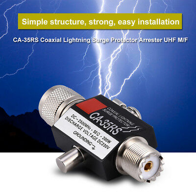 CB HAM ANTENNA SURGE PROTECTION LIGHTNING ARRESTER N FEMALE TO N MALE LSP-NFBNM3